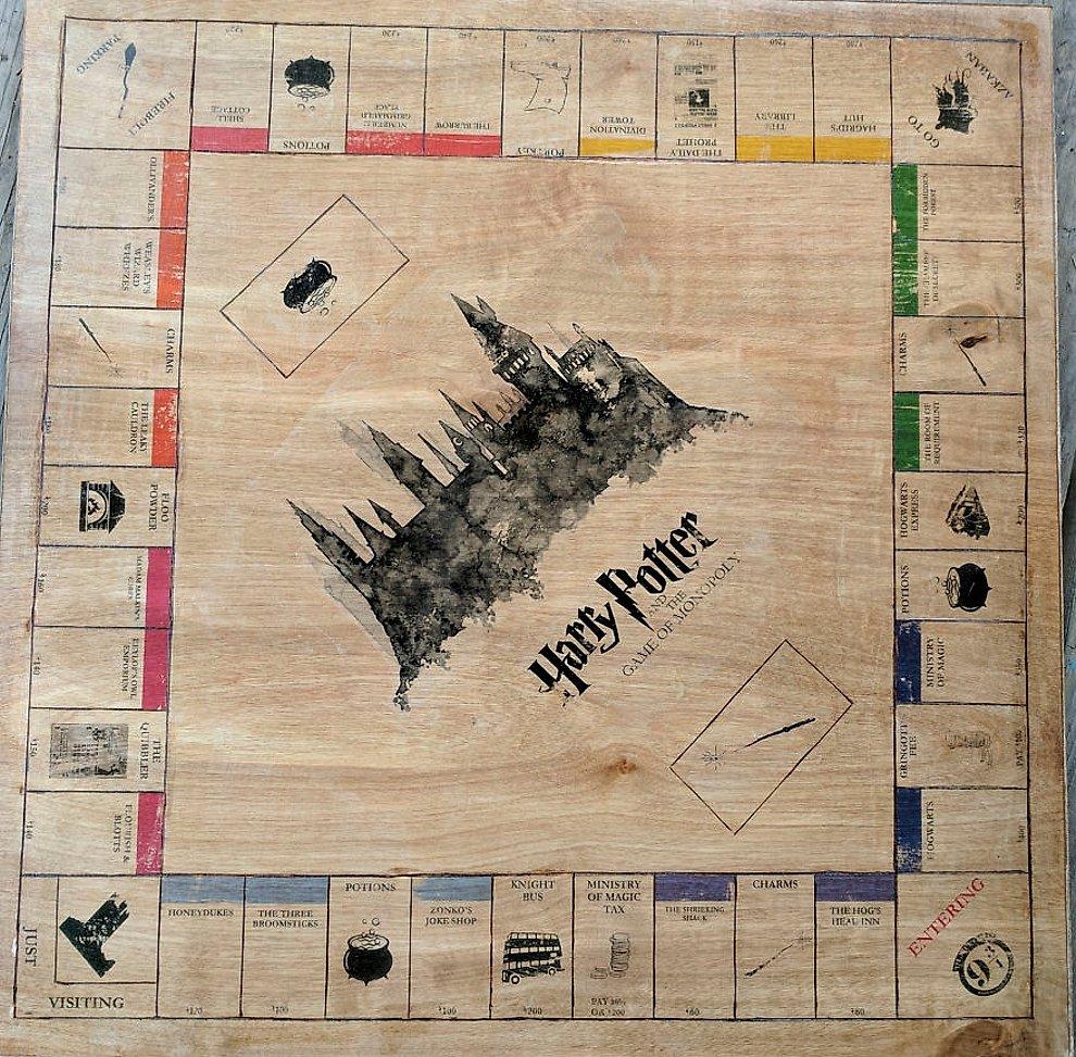 Le creó un Monopoly de Harry Potter a su amiga y está increíble